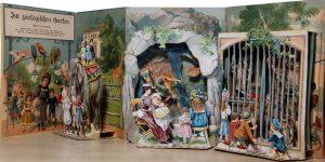 Im Zoologischen Garten. Ein Bilderbuch zum Aufstellen, Esslingen - Munchen, Schreiber, s.d. [1890?] (Fondazione Tancredi di Barolo – Torino).