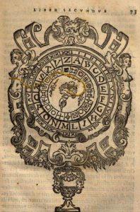 Dischi cifrati in G. Della Porta, De furtivis literarum notis[...], Napoli, I. N. Scrotum, 1563, p. 73