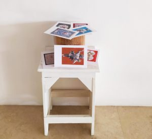 Numi Tutelari- 2018-legno e tecnica mista su carta-cm66x40x30