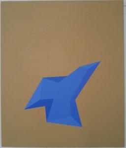 Pittura A 5, 1971, acrilico stratificato su tela, 95x113cm