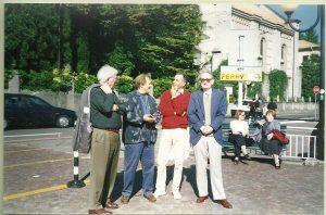 Cadenabbia, ottobre 1999: Massimo Bacugalupo con Charles Tomlinson, Seamus Heaney e Tony Harrison