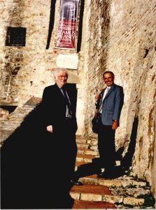 Lerici, 10 settembre 2005: Massimo Bacigalupo con Seamus Heaney