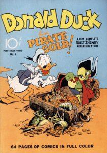 2.Donald Duck Finds Pirate Gold, la prima storia a fumetti di Paperino nei comic book americani (1942)