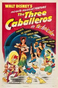 3.La locandina originale del film I Tre Caballeros (1944)