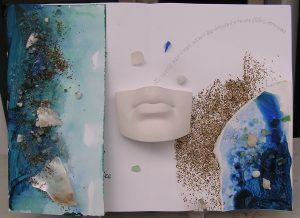 Madre mare: Libro d'Artista in un'unica copia,tecniche miste, collage, scultura, esposto nella Mostra Internazionale di Libri d'Artista  2017 (a cura di Maddalena Castagnaro).
