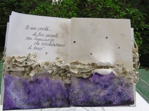 A un poeta: Libro d'Artista in un'unica copia, tecniche miste, collage, scultura.
